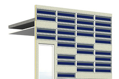 - Visualization of a façade with a solar thermal blind