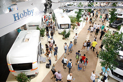 - On 214,000 square metres the international exhibitors will be presenting 130 caravan and motorhome brands at the Caravan Salon 2017.