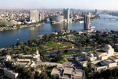 - Located on the banks of the Nile River, Cairo is Africa's largest city, as well as the largest city in the Arab world