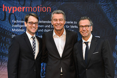 - The organisation team is looking forward to Hypermotion 2017: Danilo Kirschner, Event Manager Hypermotion, Detlef Braun, Member of the Executive Board of Messe Frankfurt GmbH, Michael Johannes, Vice President Mobilty & Logistics (f.l.t.r)