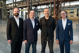 Die Besitzer der ART DÜSSELDORF: Walter Gehlen (Founding Director und Partner ART DÜSSELDORF), Marco Fazzone (Managing Director Design and Regional Art Fairs, MCH Group), René Kamm (CEO MCH Group) und Andreas Lohaus (Founding Director und Partner ART DÜSSELDORF).